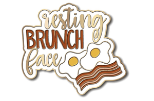 Enamel Pin - Resting Brunch Face