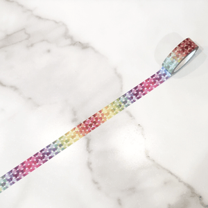 Designer Washi - Rainbow Painted Dots