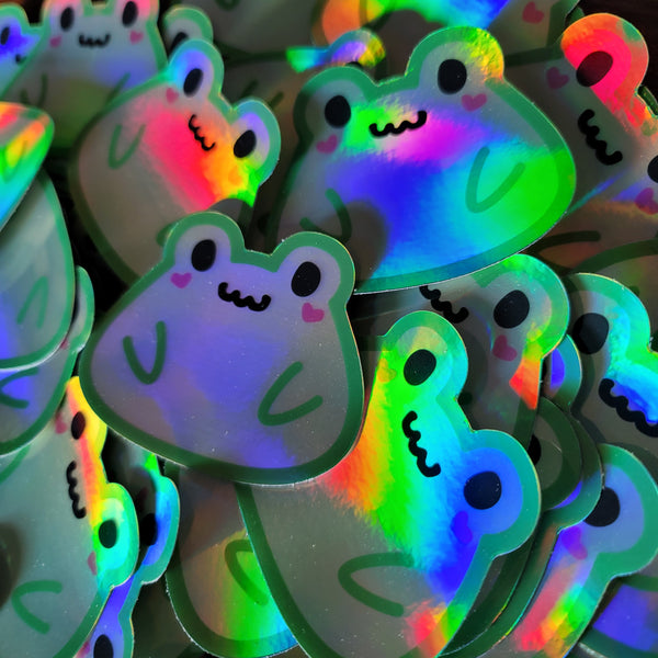 Holo Ribbit Vinyl Sticker