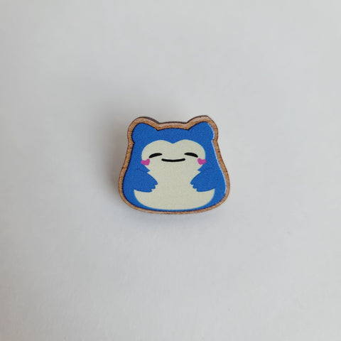 Baby Snoresnacks Wooden Pin