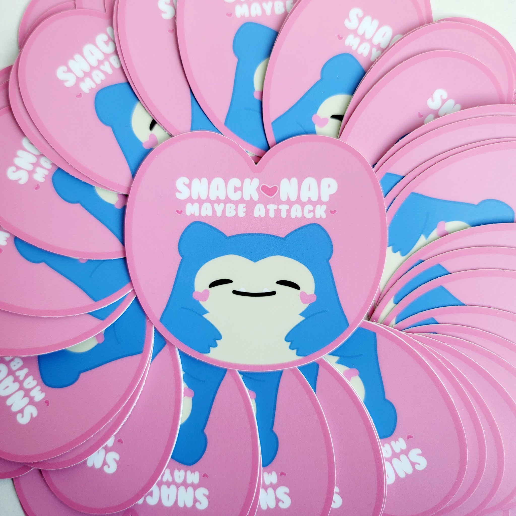 Baby Snoresnacks Heart Vinyl Sticker