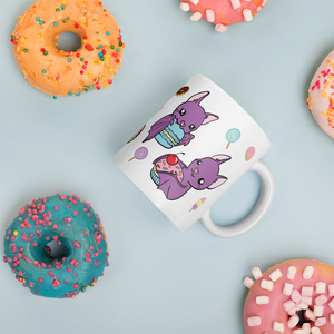 Cute Bats Mug, Sweet Tooth Bats Ceramic Mug, Kawaii Housewares, Cute Bat Gifts
