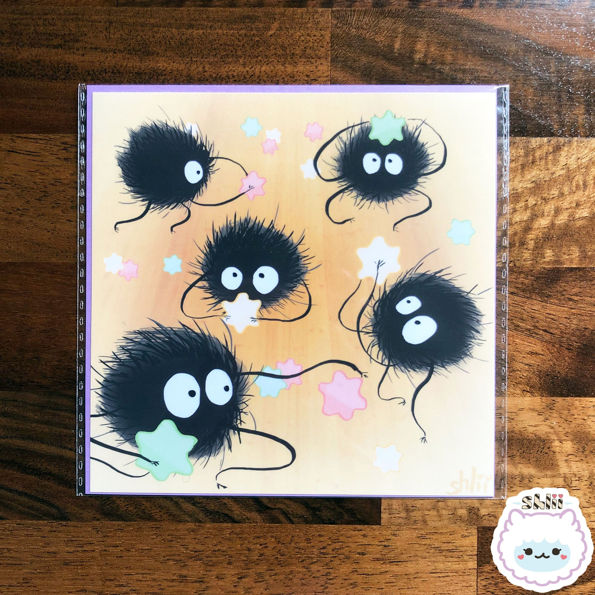 Soot Snack Time Mini Art Print