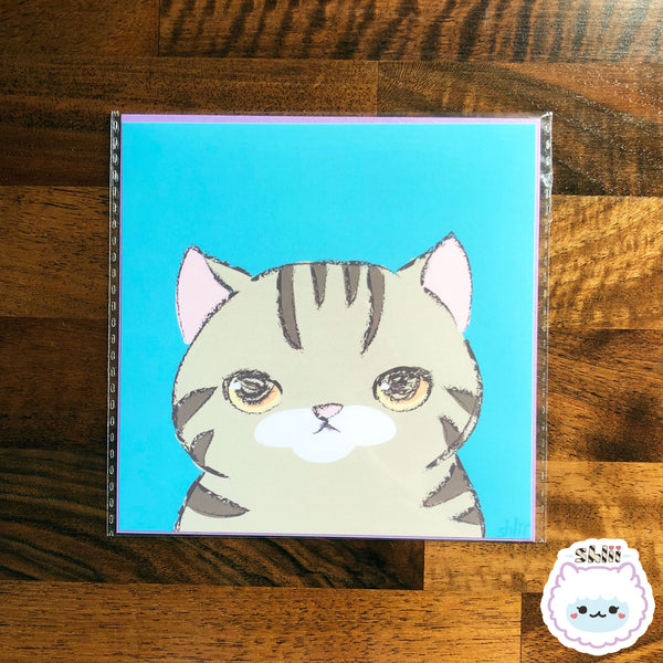 Chaz the Cat Mini Art Print