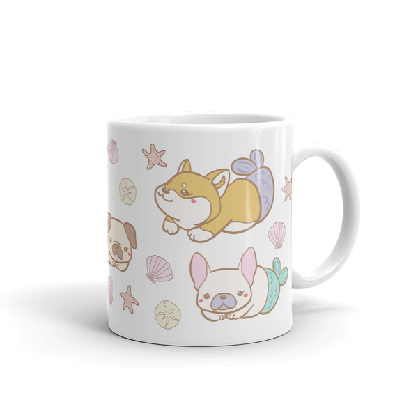 Mermaid Dogs Cute Ceramic Mug