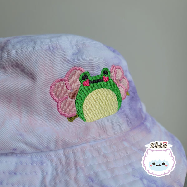 Sakura Ribbit Tie Dye Bucket Hat