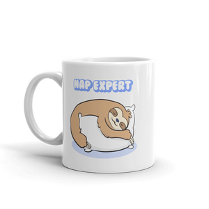 Sleepy Sloth Ceramic Mug