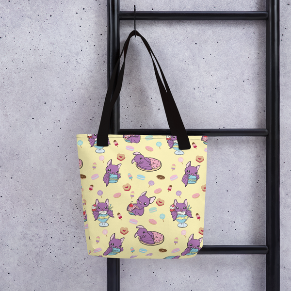 Cute Bats Tote, Sweet Tooth Bats Cute Tote Bag