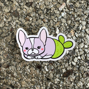 Boston Terrier Mermaid Vinyl Sticker