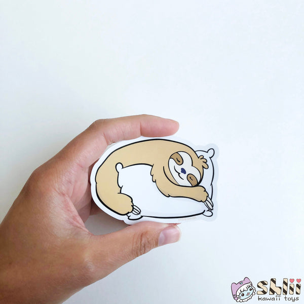 Cute Sloth Sticker, Sloth Vinyl Sticker, Cute Sloths, Sloth Decal
