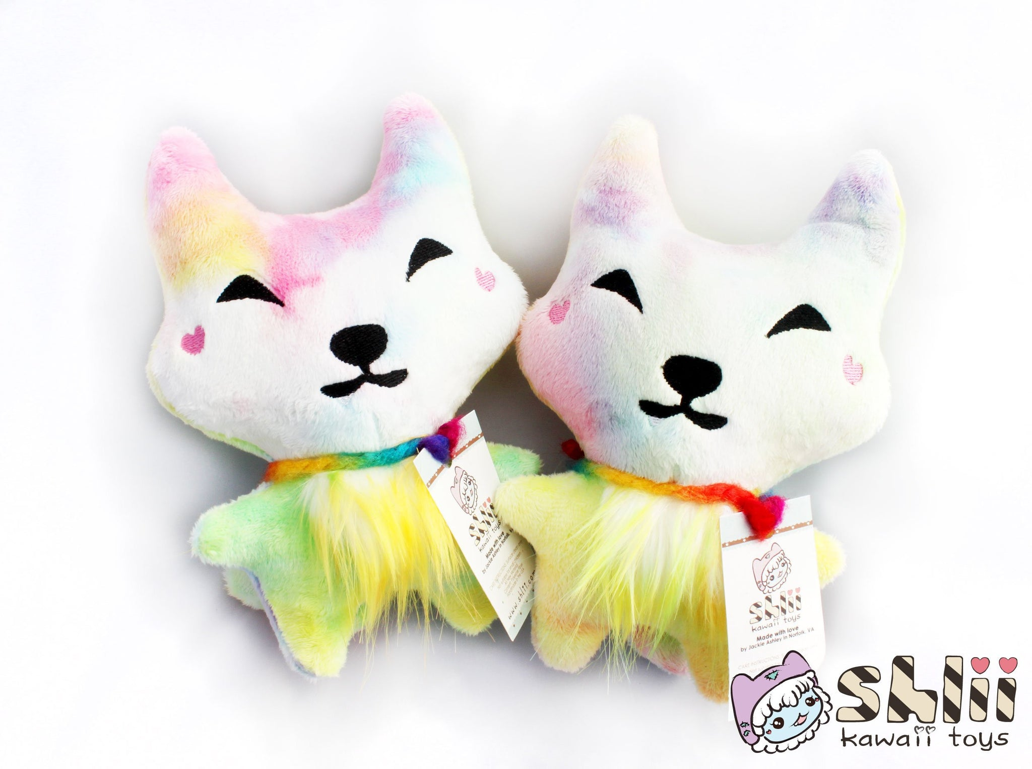 Rainbow Wolf Plush, Cute Wolf, Wolf Doll, Wolf Plush