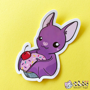 Cute Bat Sticker, Bat Vinyl Sticker, Bat Decal, Cute Planner Sticker