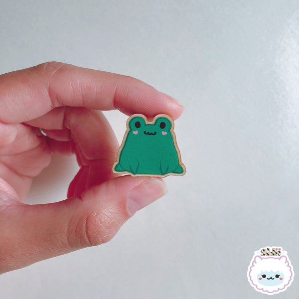 Baby Ribbit Wooden Pin