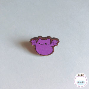 Dumpling Bat Pup Wooden Pin
