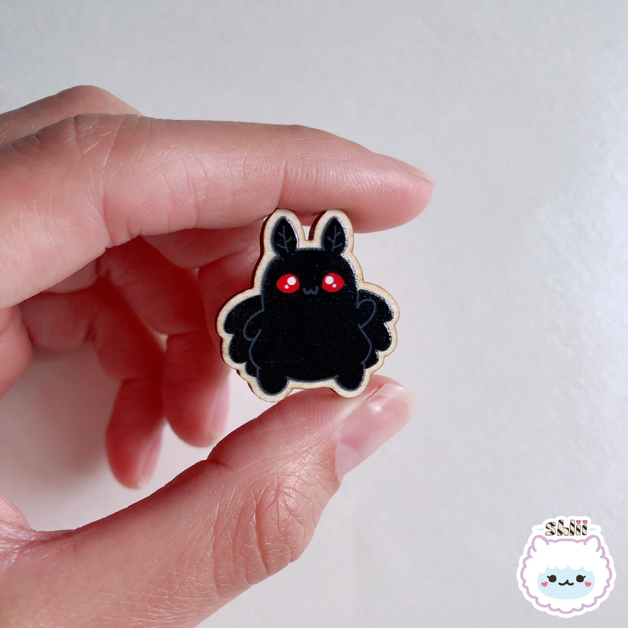 Baby Mothman Wooden Pin