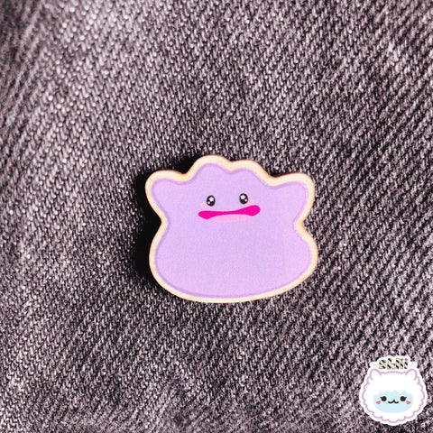 Kawaii Ditto Wooden Pin