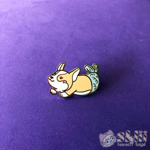 Corgi Mermaid Enamel Pin
