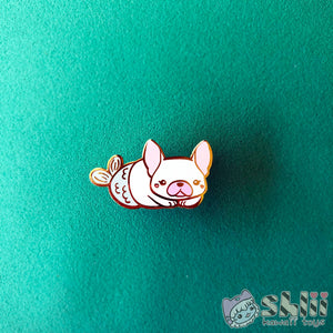 French Bulldog Mermaid Enamel Pin