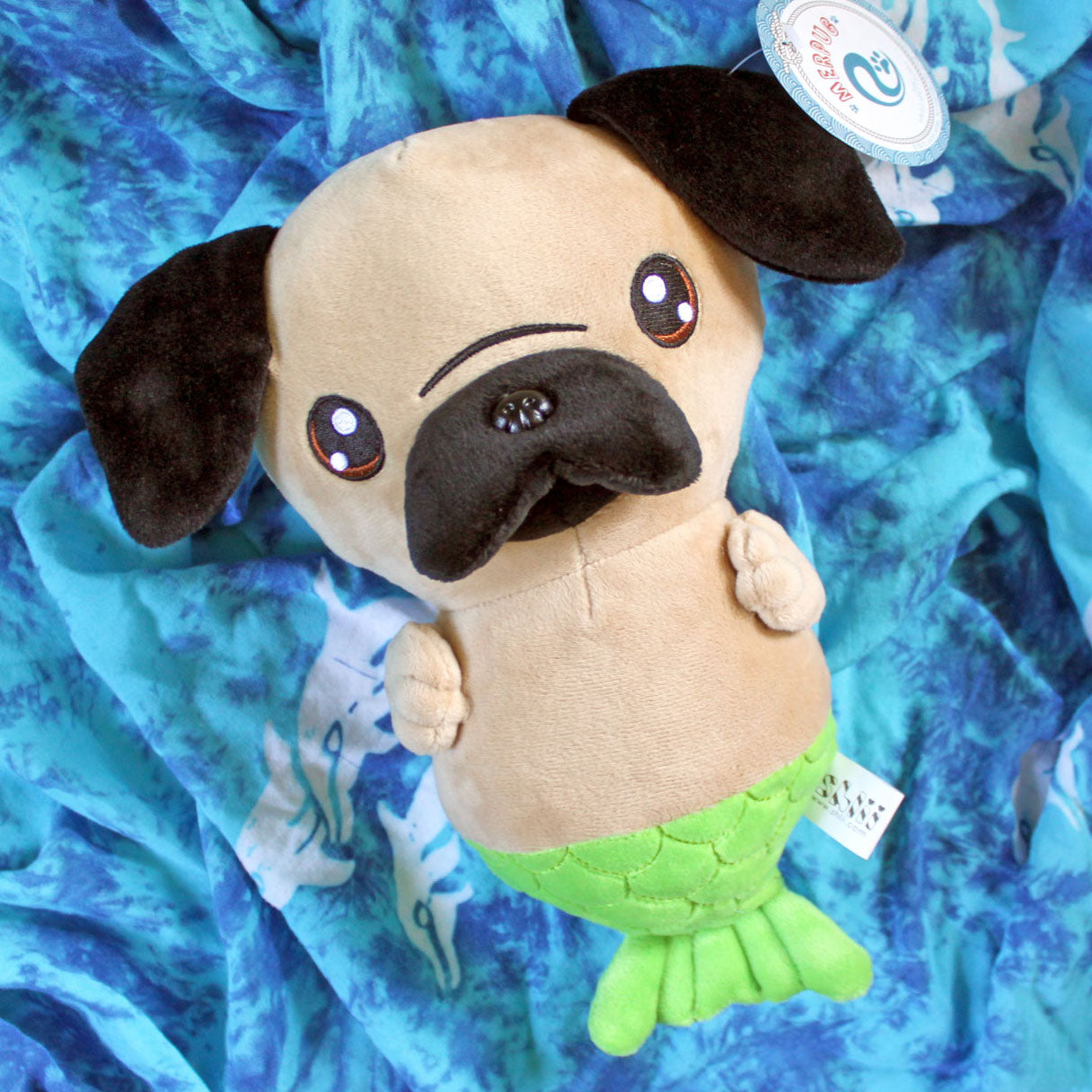 Pug Mermaid Merpug Plush Doll