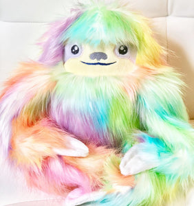 Rainbow Sloth Handmade Doll