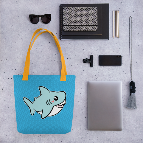 Baby Shark Tote, Cute Shark Tote Bag, Kawaii Sharks Fashion