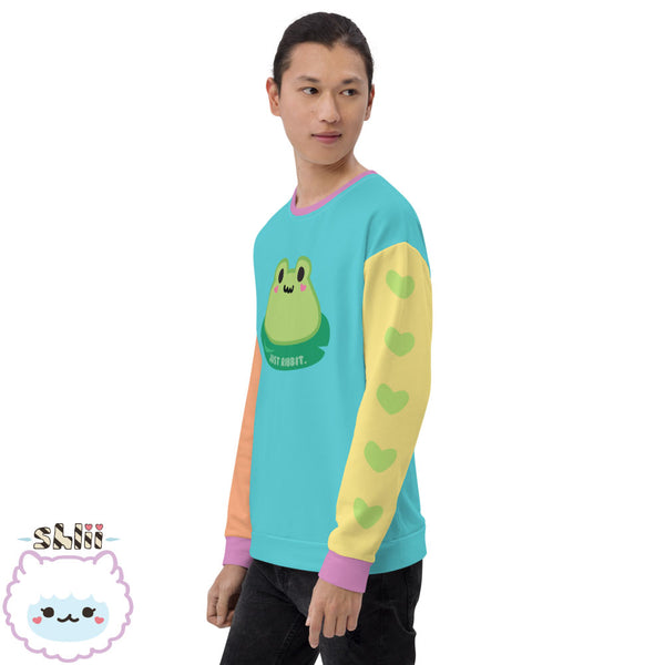 Baby Ribbit Kawaii Colorblock Unisex Sweatshirt