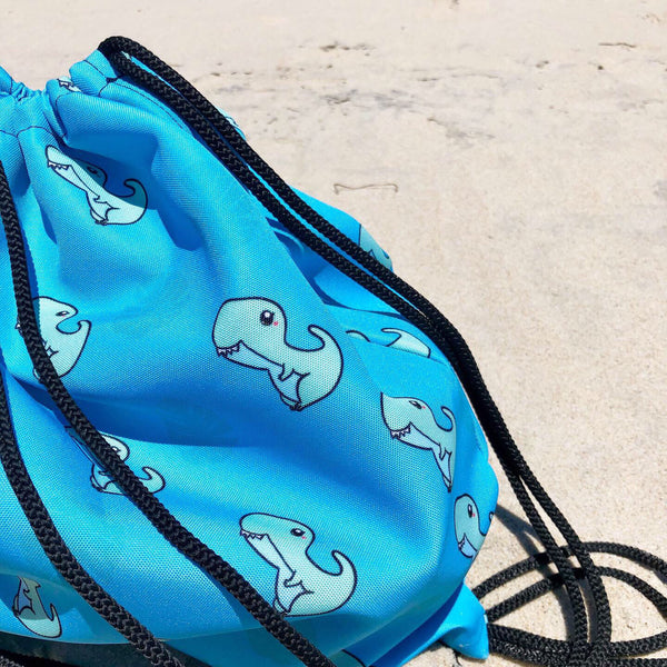 Derpy Dino Drawstring Backpack