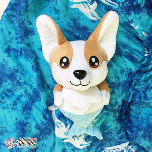 Corgi Mermaid Plush Doll