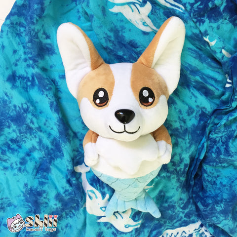 Cute Corgi Plush, Mercorgi, Corgi Plush, Corgi Doll, Corgi Gifts, Cute Plush Toy, Cute Doll, Kawaii Corgi