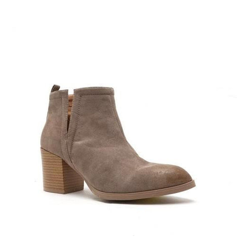 Sidewalk Strut Booties In Taupe