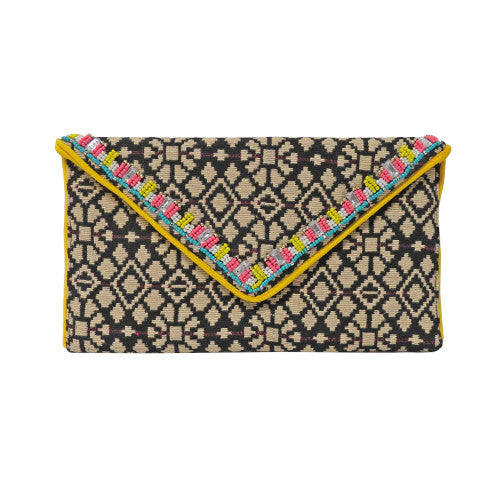 Poolside Party Beaded Clutch