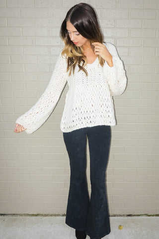 Morning Fog Sweater In Beige