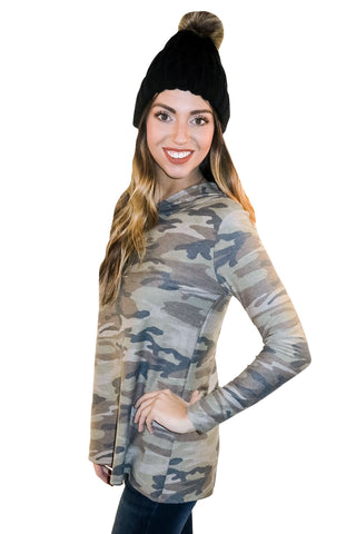 Take A Hiking To You Camo Sweatshirt