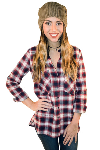 Potluck Hostess Plaid In Navy/Red