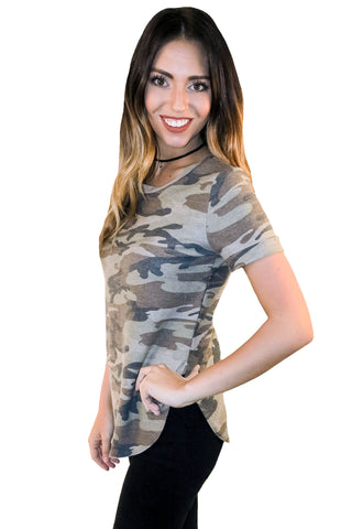 Attention Always Camo Tee