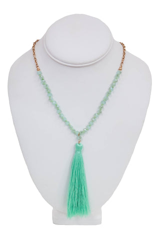 Can't Be Bead Necklace in Mint