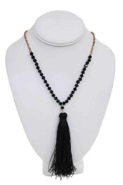 Can't Be Bead Necklace in Black