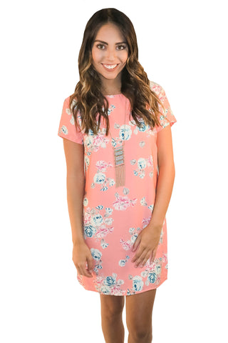 Sweet Spirit Floral Shift Dress