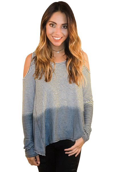 Shoulder Shrug Dip Dyed Top