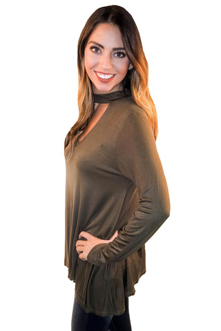 Hypnotic Night Top In Olive