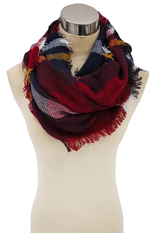 Train Station Anticipation Infinity Scarf In Red