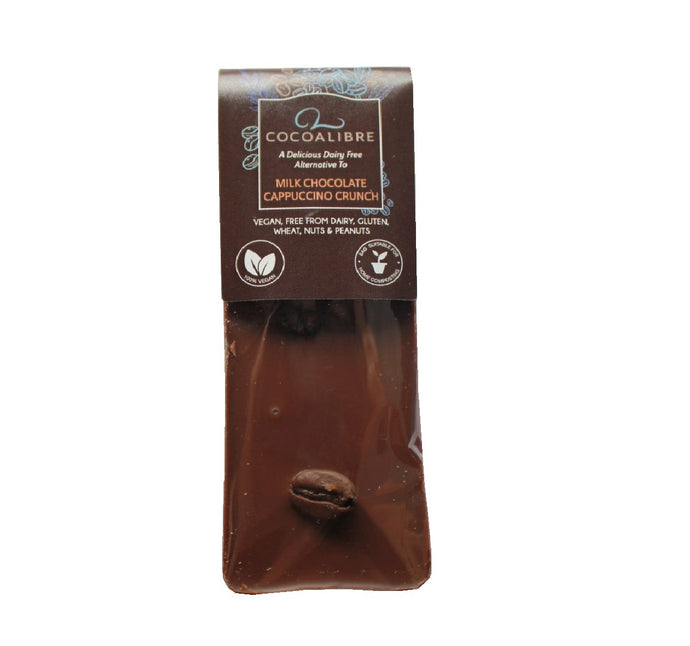 Cappuccino Crunch Rice Milk Chocolate Coffee Mini Slab | 40g Dairy Free Vegan