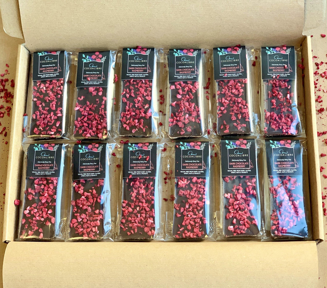 Raspberry Mini Slabs Multi Pack 12 slabs | 480g Dairy Free Vegan