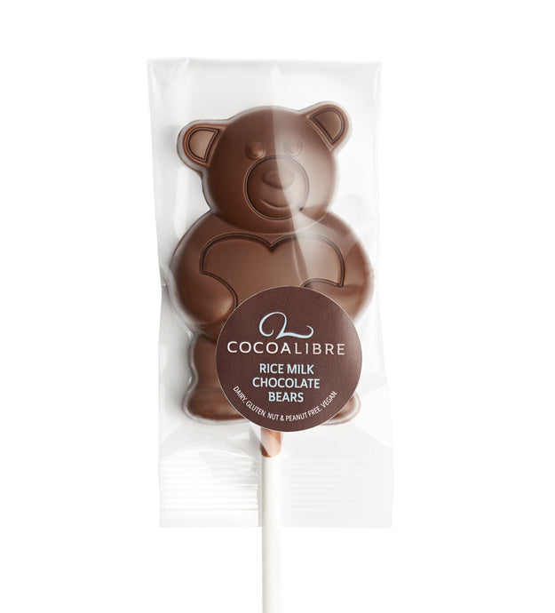 Rice Milk Bear Lollies - Pack of 5 | 100g Dairy Free Vegan