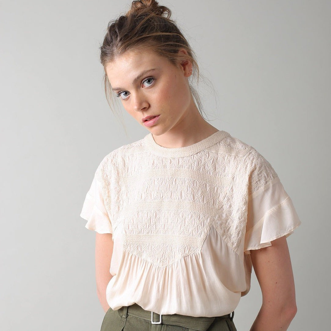 Indi & Cold // Embroidered Blouse Shell