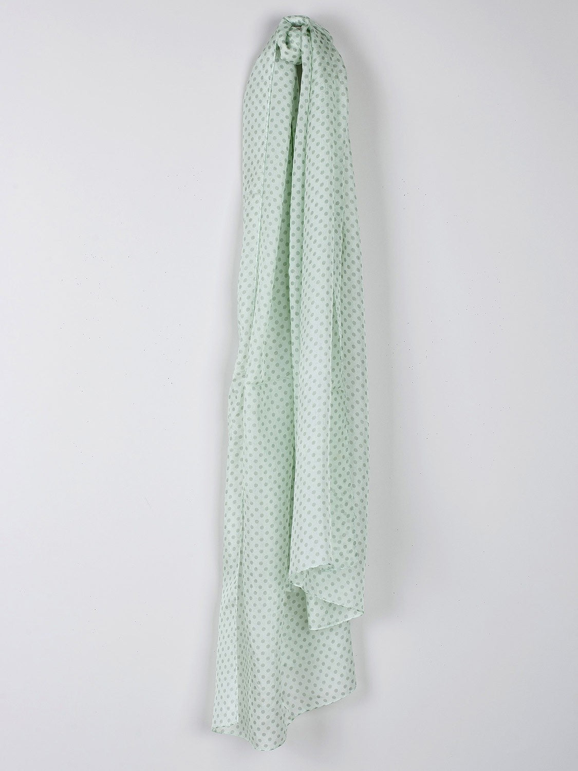 Indi & Cold // Polka Dot Silk Scarf Aloe
