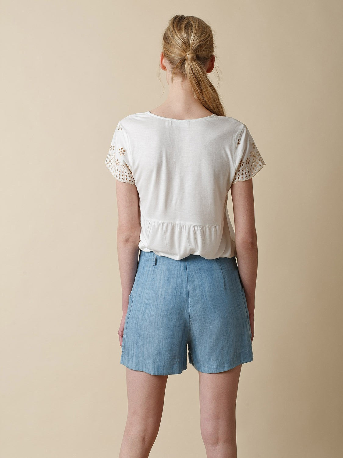 Indi & Cold // Chambray Shorts