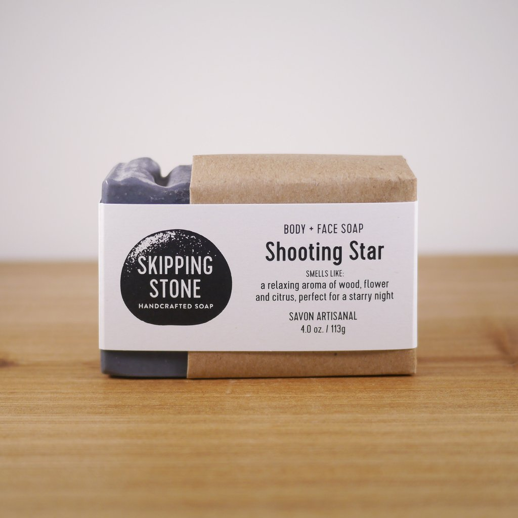 Skipping Stone // Shooting Star Handmade Soap
