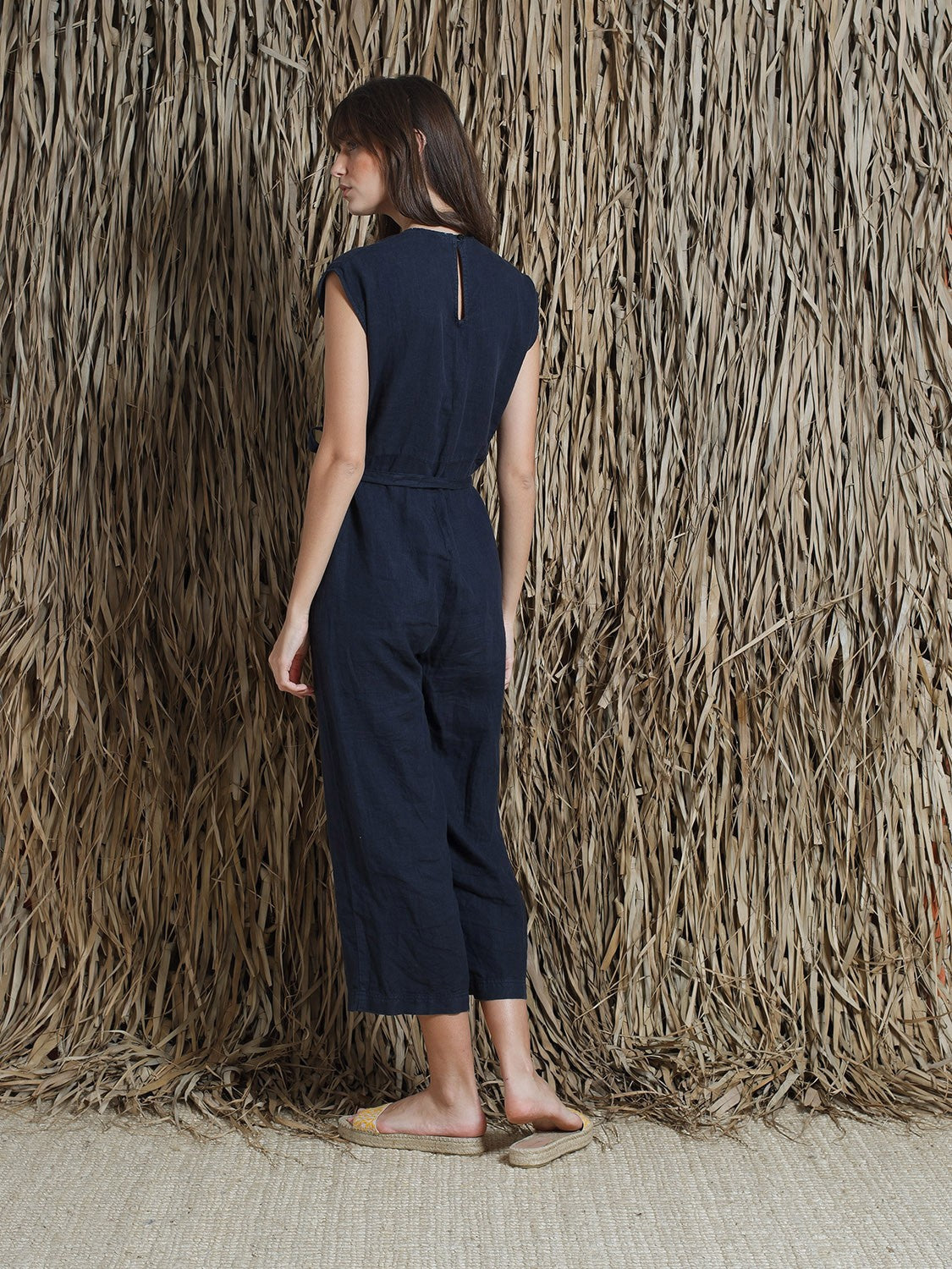 Indi & Cold // Linen Wrap Jumpsuit