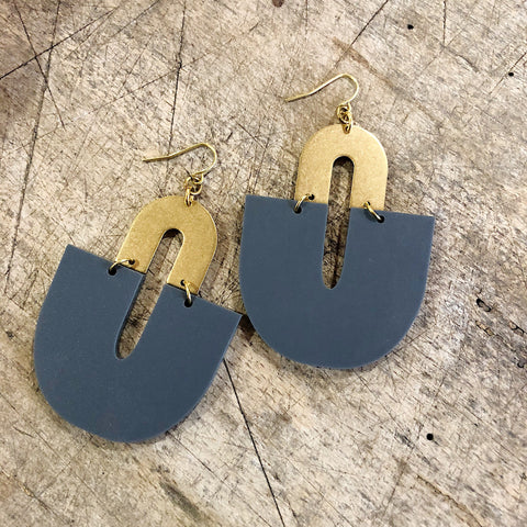 Darlings of Denmark  // Brass Matte Acrylic Earrings